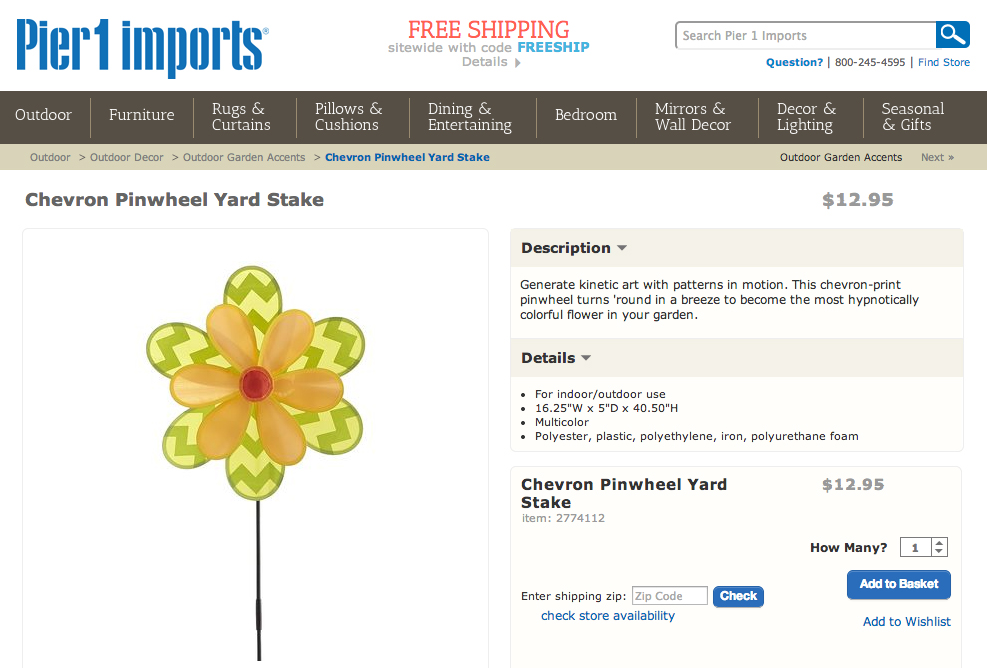 Pier1 Imports Trend Research