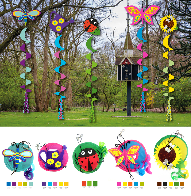Illustrations Garden Twirler Samples