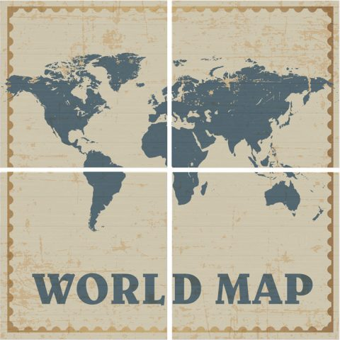 Wall Decor Map
