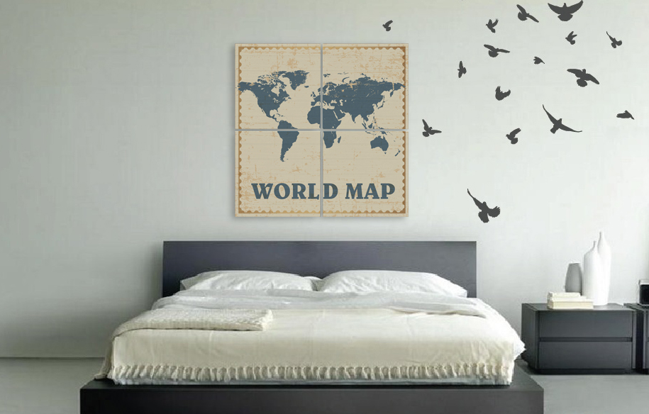 Wall Decor Map Room