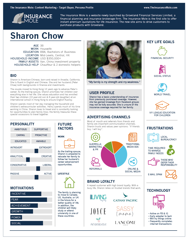 Infographic Communications Design Content Marketing Persona