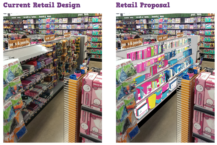 Merchandising Design Packaging Back to School Retail